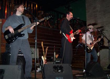 Banda durante apresentação